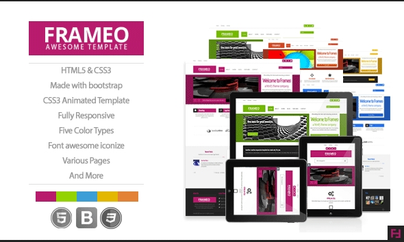 Frameo – Creative HTML5 Template